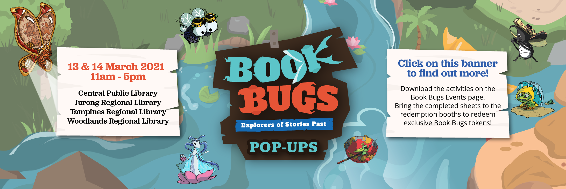 Click on the banner for the Book Bugs Pop-up Event